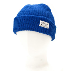 KNITCAP COTTON TAG CUFF BLUE
