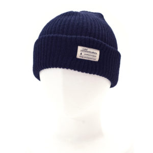 KNITCAP COTTON TAG CUFF NAVY