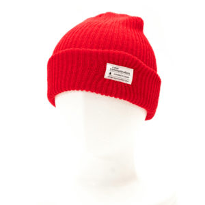 KNITCAP COTTON TAG CUFF RED