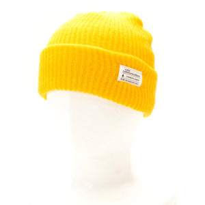 KNITCAP COTTON TAG CUFF YELLOW