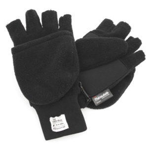 GLOVE / 2 WAY FLEECE 2 / BLACK