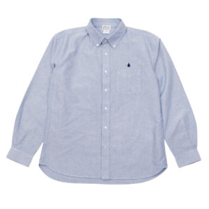 LONG SLEEVE SHIRT / DRIP EMB OXFORD / BLUE