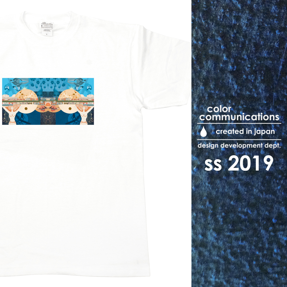 COLOR COMMUNICATIONS 2019 SS カタログ・T-SHIRT / TOM WAVES by hiroki muraoka