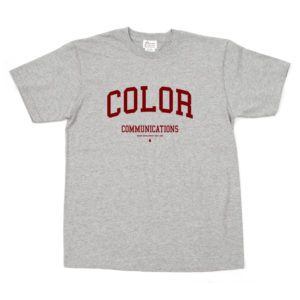 COLOR COMMUNICATIONS T-SHIRT COLLOGE GREY