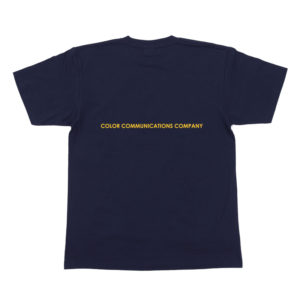 COLOR COMMUNICATIONS T-SHIRT DIAMOND NAVY BACK