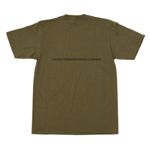 COLOR COMMUNICATIONS T-SHIRT DIAMOND OLIVE BACK