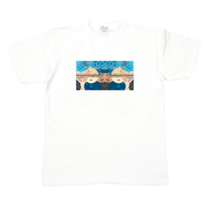 COLOR COMMUNICATIONS T-SHIRT TOM WAVES by hiroki muraoka WHIITE