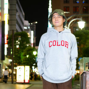 COLOR COMMUNICATIONS 2019 FW colloge hood / Hiroki Muraoka / size : XL