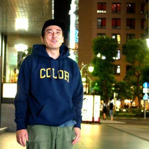 COLOR COMMUNICATIONS 2019 FW colloge hood / Makoto Yamamura / size : XL