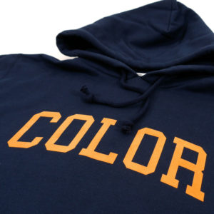 COLOR COMMUNICATIONS 2019 FW colloge hood navy