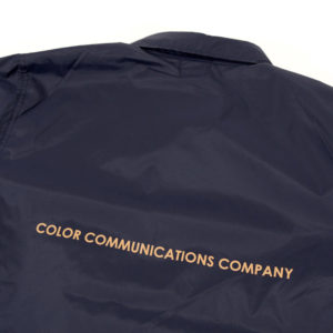 COLOR COMMUNICATIONS 2019 FW diamond patch jacket navy