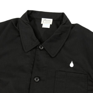 COLOR COMMUNICATIONS 2019 FW drip emb coverall jacket black