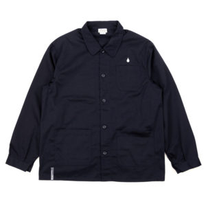 COLOR COMMUNICATIONS 2019 FW drip emb coverall jacket navy