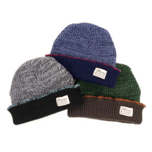 COLOR COMMUNICATIONS 2019 FW cotton tag 3 tpone knitcap