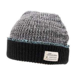 COLOR COMMUNICATIONS 2019 FW cotton tag 3 tpone knitcap black