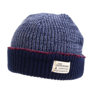 COLOR COMMUNICATIONS 2019 FW cotton tag 3 tpone knitcap navy