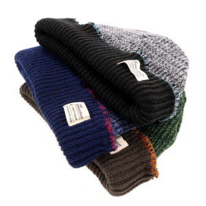 COLOR COMMUNICATIONS 2019 FW cotton tag 3 tpone knitcap