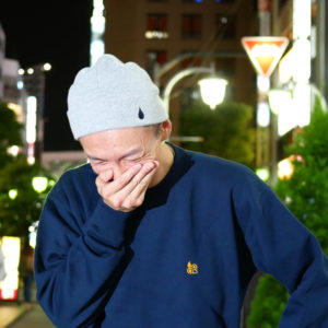 COLOR COMMUNICATIONS 2019 FW drip emb thermal knitcap / emno