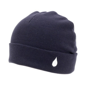 COLOR COMMUNICATIONS 2019 FW drip emb thermal knitcap navy