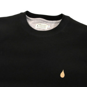 COLOR COMMUNICATIONS 2019 FW drip emb thermal long sleeve black