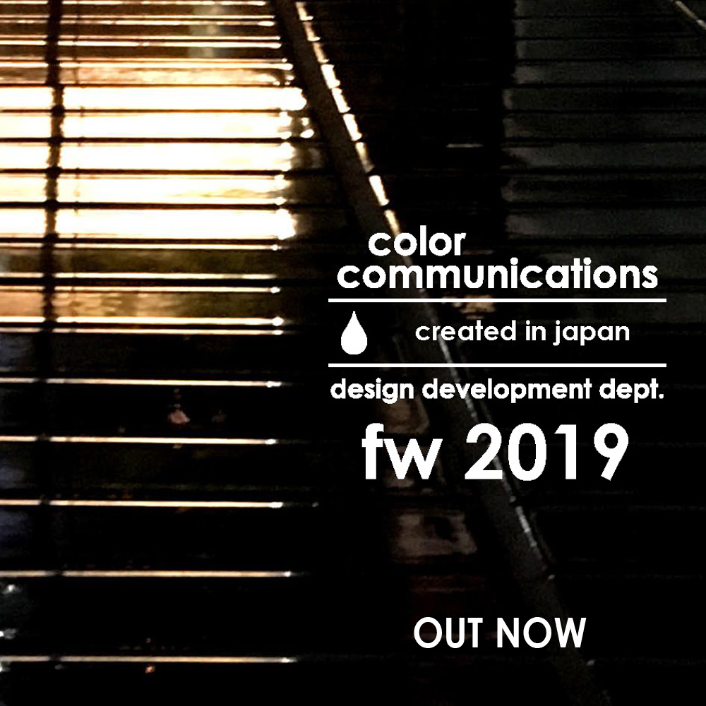 COLOR COMMUNICATIONS 2019 FW OUT NOW