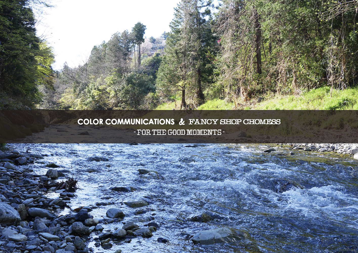COLOR COMMUNICATIONS & FANCY SHOP CHOMESS / FOR THE GOOD MOMENTS / 2020 SPRING SUMMER カタログ 表紙