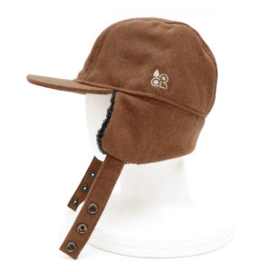 COLOR COMMUNICATIONS CAP / COTTON TAG WOOL FLIGHT BROWN