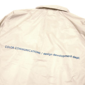 COLOR COMMUNICATIONS JACKET / STATION PATCH COACH BEIGE