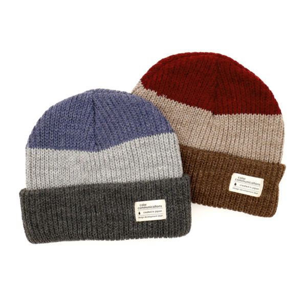 COLOR COMMUNICATIONS KNITCAP / COTTON TAG 3 TONE CUFF