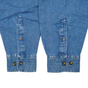COLOR COMMUNICATIONS 2019 FW drip emb denim long sleeve shirt navy denim アウトレット