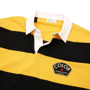 COLOR COMMUNICATIONS LONG SLEEVE / DESIGN DEPT. PATCH STRIPE RUGGER BLACK/YELLOW