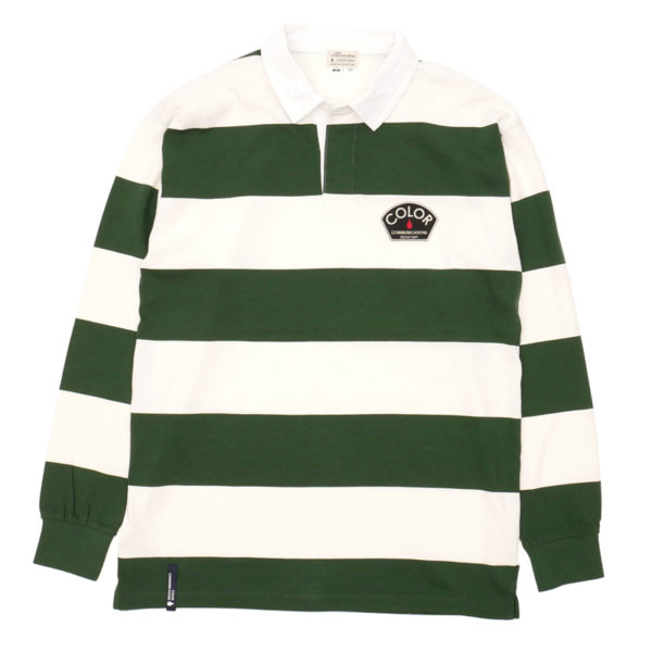 COLOR COMMUNICATIONS LONG SLEEVE / DESIGN DEPT. PATCH STRIPE RUGGER GREEN/NATURAL