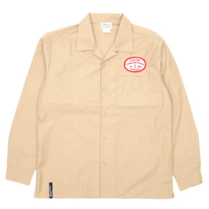 COLOR COMMUNICATIONS LONG SLEEVE SHIRT / STATION PATCH WORK BEIGE