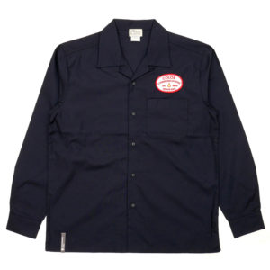 COLOR COMMUNICATIONS LONG SLEEVE SHIRT / STATION PATCH WORK DARK NAVY