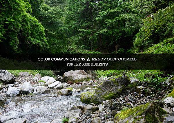 COLOR COMMUNICATIONS(カラーコミュニケーションズ)& FANCY SHOP CHOMESS(ファンシーショップチョメス)for the good moments 2021 カタログ表紙