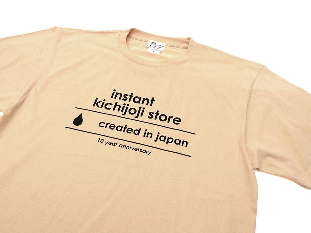 インスタント吉祥寺ストア・10周年記念 Tシャツ・color communications(カラーコミュニケーションズ)